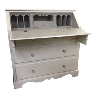 Vintage Gray Painted Secretary For Sale