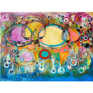 Clara Fialho Colorful Abstract Painting For Sale