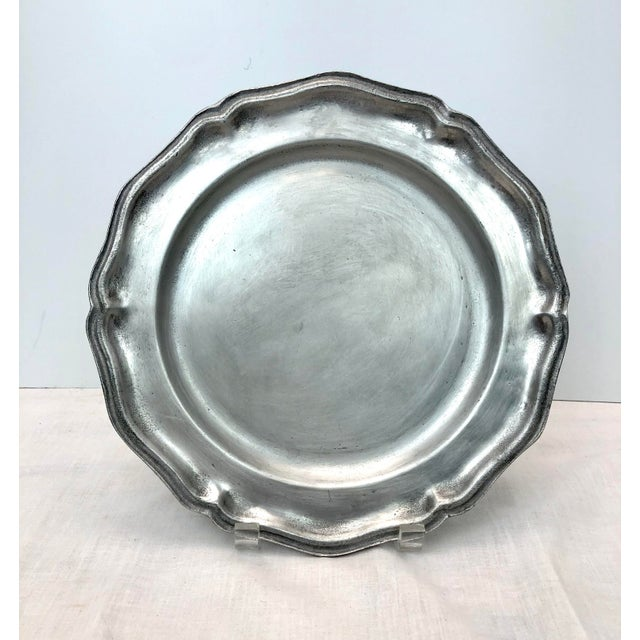 Vintage Wilton Queen Anne Pewter Plates and Bowl - Set of 10 For Sale - Image 4 of 7