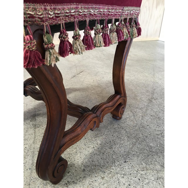 19th Century French Walnut Stools - a Pair For Sale - Image 4 of 9