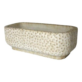 Carved Marble Planter For Sale