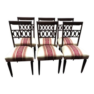 1950s Vintage Dining Room Chairs - Set of 6 Plus 2 Side Chairs For Sale