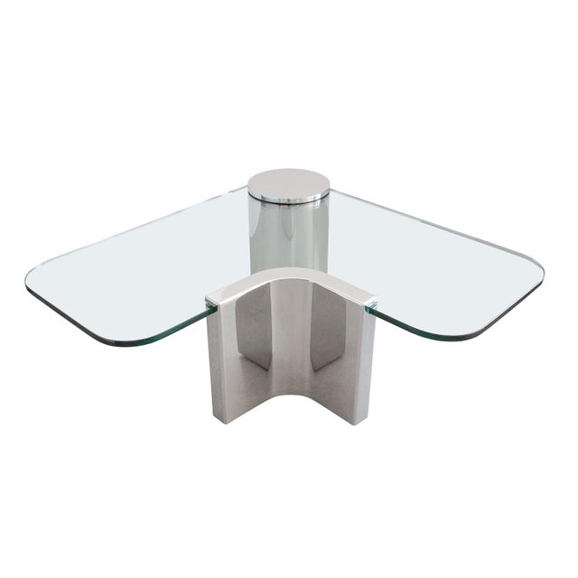 Polished Steel Cantilever Coffee Table - Image 3 of 11