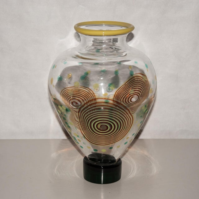 Salviati Post-Memphis Multicolored Glass Vase For Sale In Richmond - Image 6 of 6