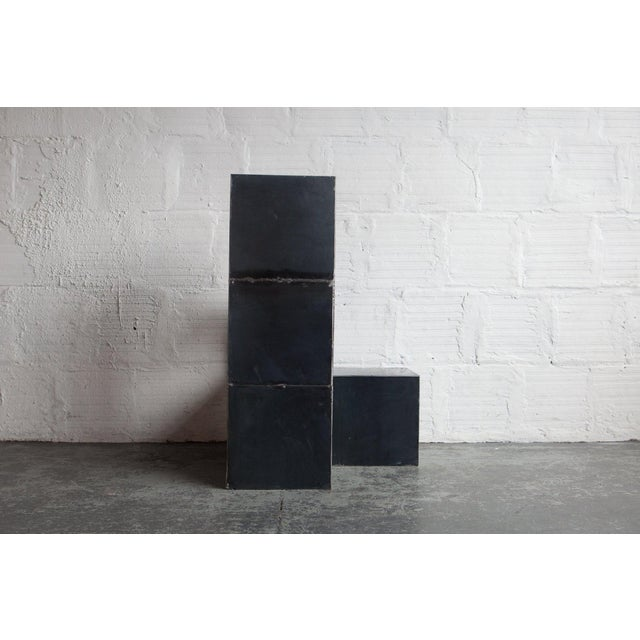 "Black ""Cube Study"" by Spencer Staley For Sale - Image 8 of 10"