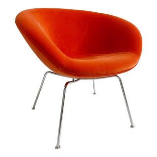 Arne Jacobsen Pot Chair in Loro Piana Velvet For Sale