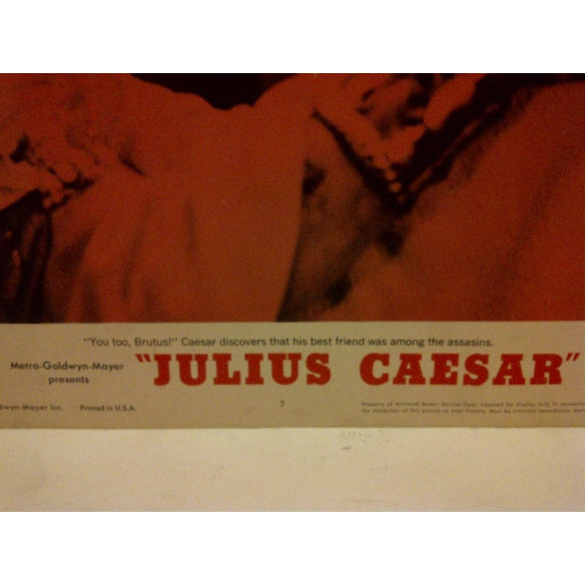 "American MGM's ""Julius Caesar"" 1962 Vintage Movie Poster For Sale - Image 3 of 5"