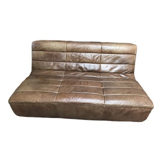 Timothy Oulton Shabby Leather Sofa