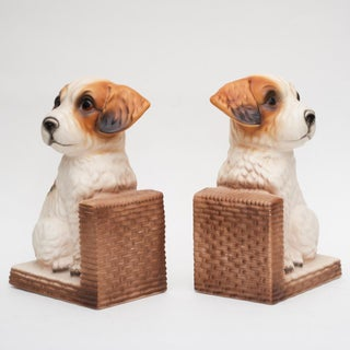 C. 1950s Japanese Porcelain Puppy Bookends Preview