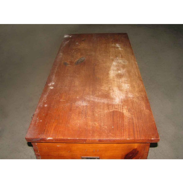 Brown Primitive Antique Pine Chest For Sale - Image 8 of 8