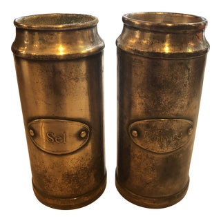 1970s French Silver Salt and Pepper Shakers - a Pair For Sale