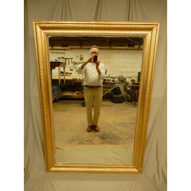 Gold 19th Century Rectangular Louis Philippe Gilt Mirror For Sale - Image 8 of 8