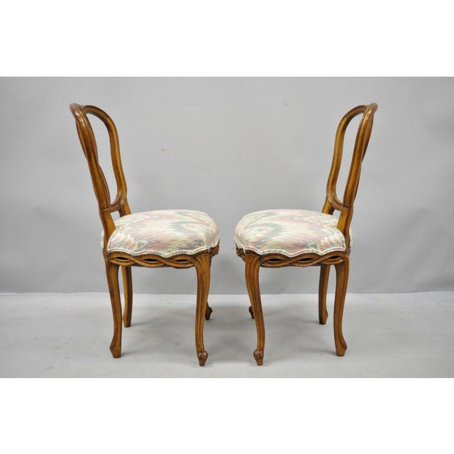 1950s Vintage French Provincial Pretzel Back Spiral Carved Dining Chairs- Set of 6 For Sale - Image 11 of 13