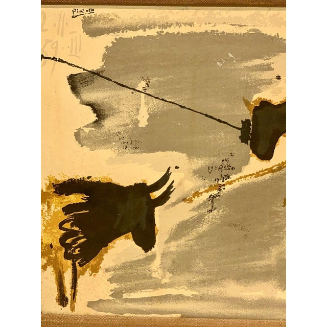 Brown Before the Thrust, Silkscrren Litho, After Picasso For Sale - Image 8 of 9