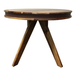 H.D. Buttercup Reclaimed Wood Dining Table With Leather Strap
