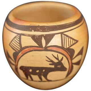 Native American Hopi Polychromed Earthenware Pot by Rosetta Huma, Circa 1960s For Sale