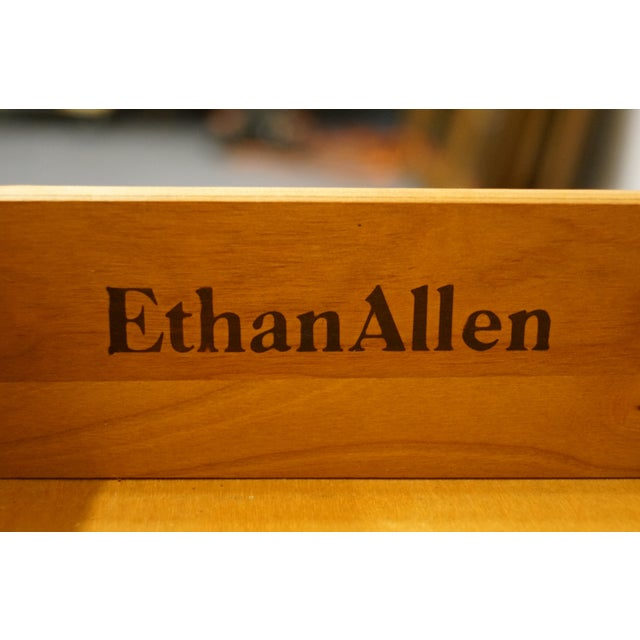 Wood Ethan Allen Georgian Court Solid Cherry Storage Accent Table For Sale - Image 7 of 12