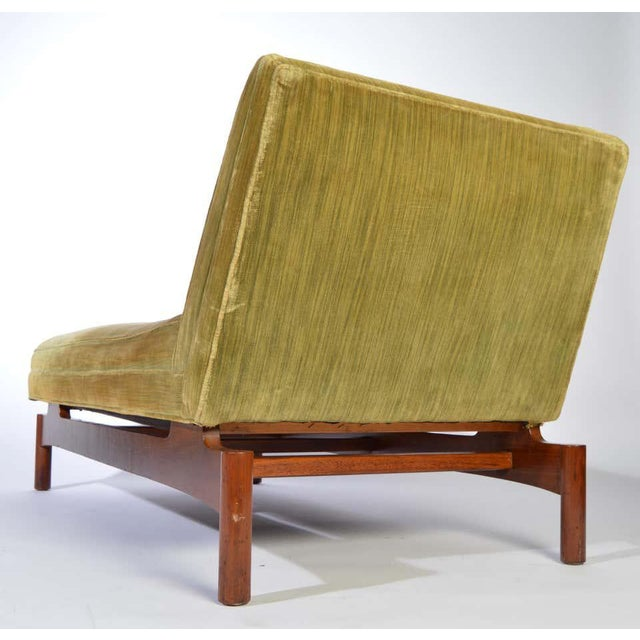 Wood Important Gerald Luss for Lehigh Chaise Lounge Chair in Walnut, Circa 1950 For Sale - Image 7 of 11