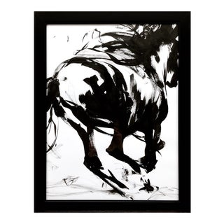 "Contemporary Ink Painting ""Wild 4"", Wild Horses Series, by James Repton For Sale"
