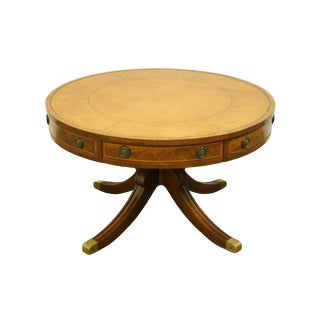 """1960's Tradtional Duncan Phyfe Mahogany 38"""" Round Accent Coffee/Cocktail Table For Sale"""