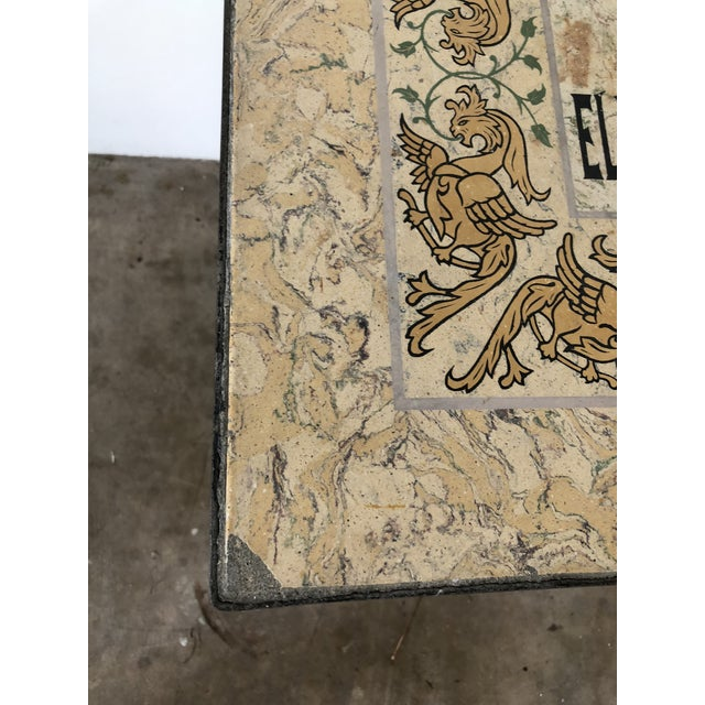 Early 20th Century Mediterranean Tile Top Wrought Iron Side Table For Sale - Image 5 of 7