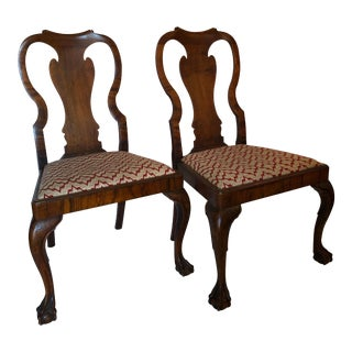 18th Century Vintage George I Walnut Chairs- a Pair For Sale