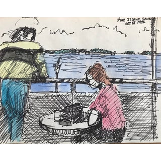 "1992 ""Pine Island Sound, Florida"" Watercolor Sketch For Sale"