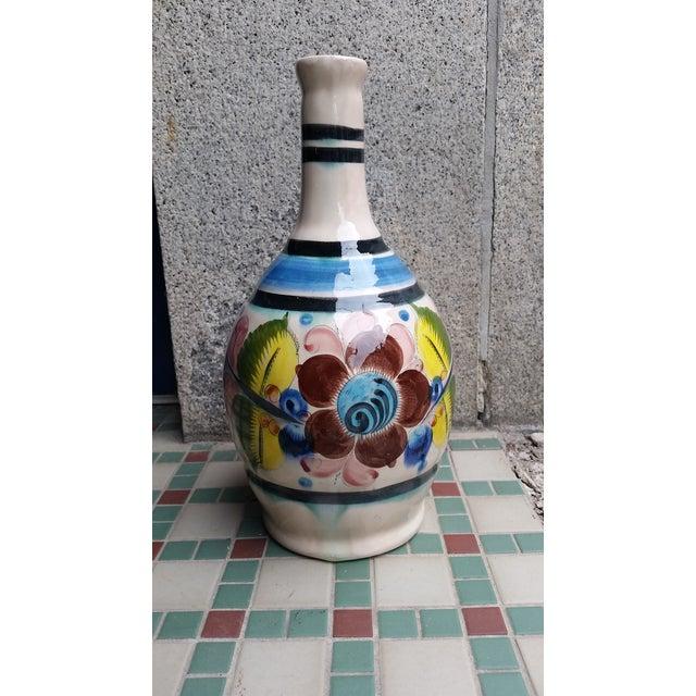 Ceramic 20th Century Vintage Tonala Mexican Water Jug Vase For Sale - Image 7 of 7
