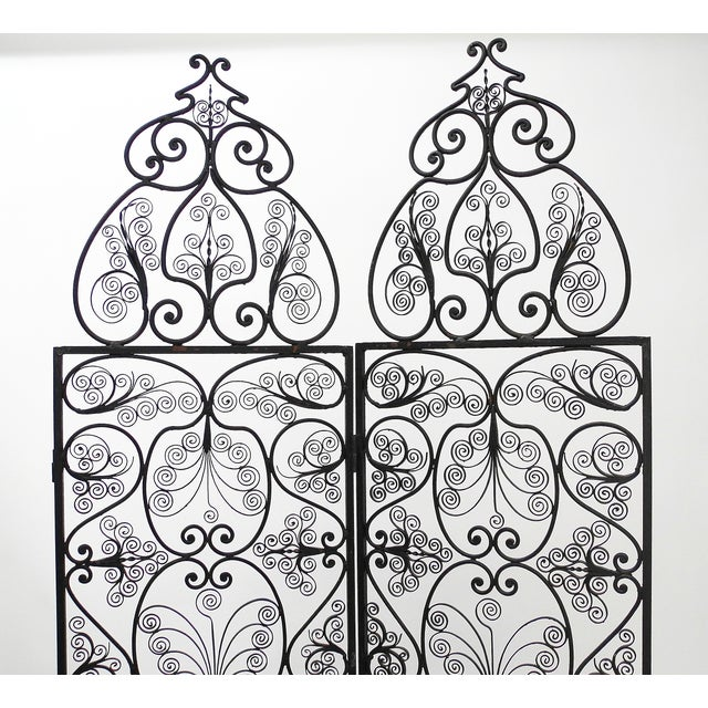 Moroccan Wrought Iron Room Screen - Image 5 of 6