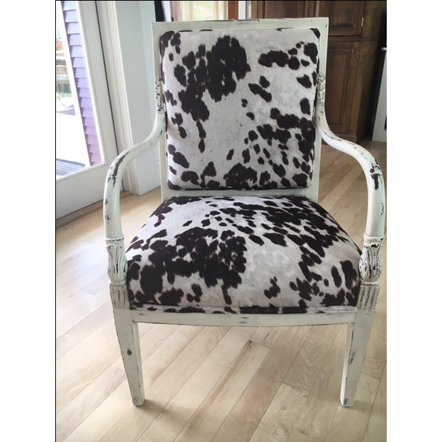 Faux Cowhide Armchair - Image 2 of 5