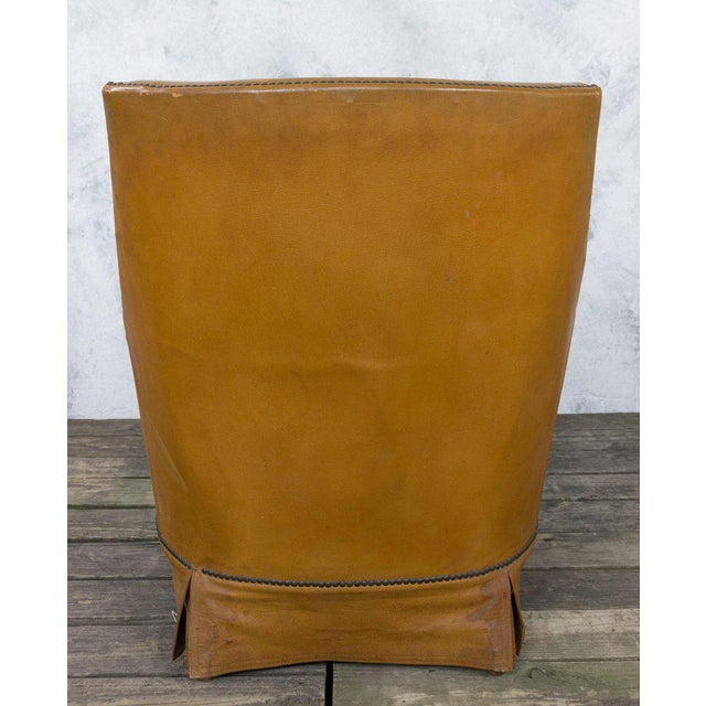 French Leather Armchair With Brass Nailheads - Image 7 of 10