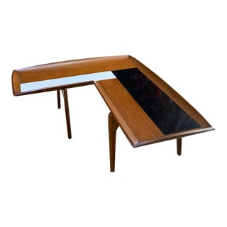 1950s Mid-Century Modern John Keal for Brown Saltman Boomerang Coffee Table For Sale