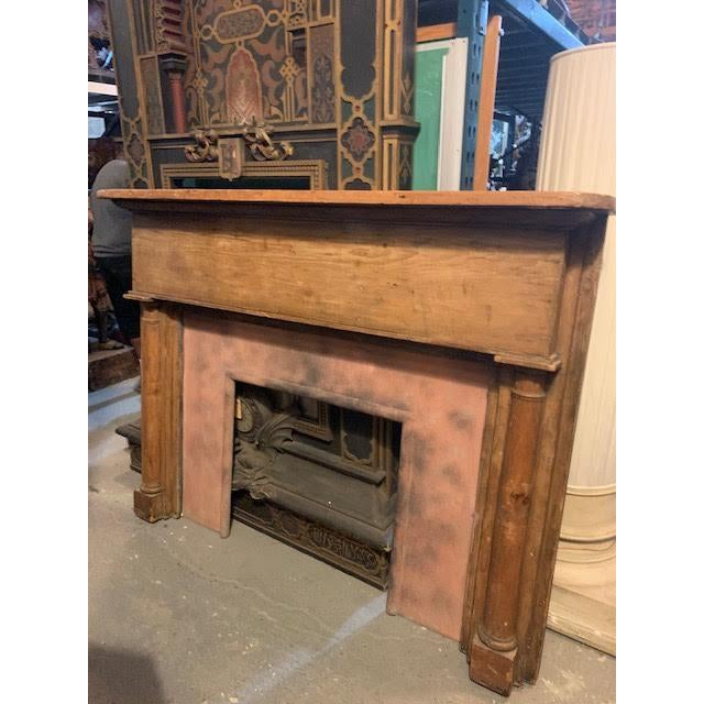 Country Stripped Pine Mantel For Sale - Image 4 of 7