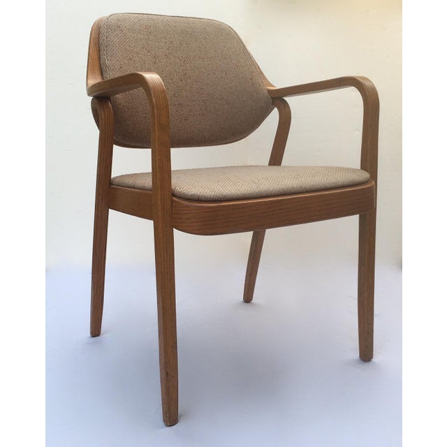 A sleek and stylish; Mid-Century chair by Knoll International, a Don Pettit, designed chair, Model #1105, is this bentwood...