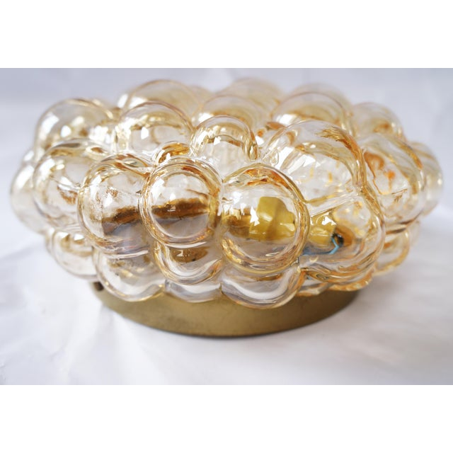 1960s 1960s Amber Bubble Flush Mount Sconce by Helena Tynell for Limburg For Sale - Image 5 of 6