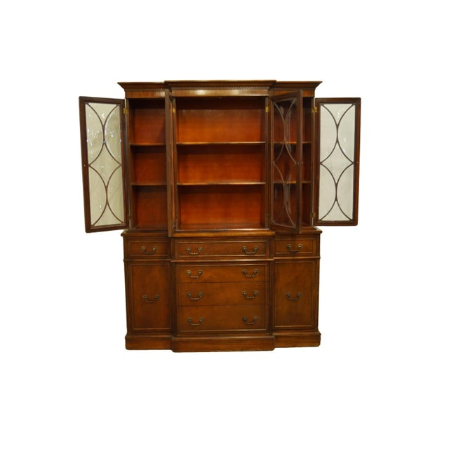 Duncan Phyfe 1960s Mahogany Traditional Style Secretary Credenza With Display China Cabinet Hutch For Sale - Image 4 of 13