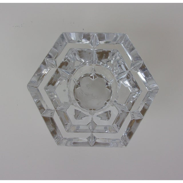 Transparent Vintage Crystal Candle Holders - Set of 3 For Sale - Image 8 of 8