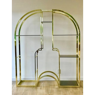 1970's Italian Brass & Glass Etagere Bookcase Preview