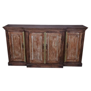 Hugh Wooden 4 Door Rustic Sideboard for Living Room For Sale