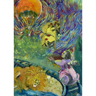 Colorful Surrealist Dreamscape For Sale