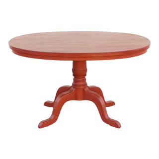 Regency Ellipse Painted Pedestal Table For Sale