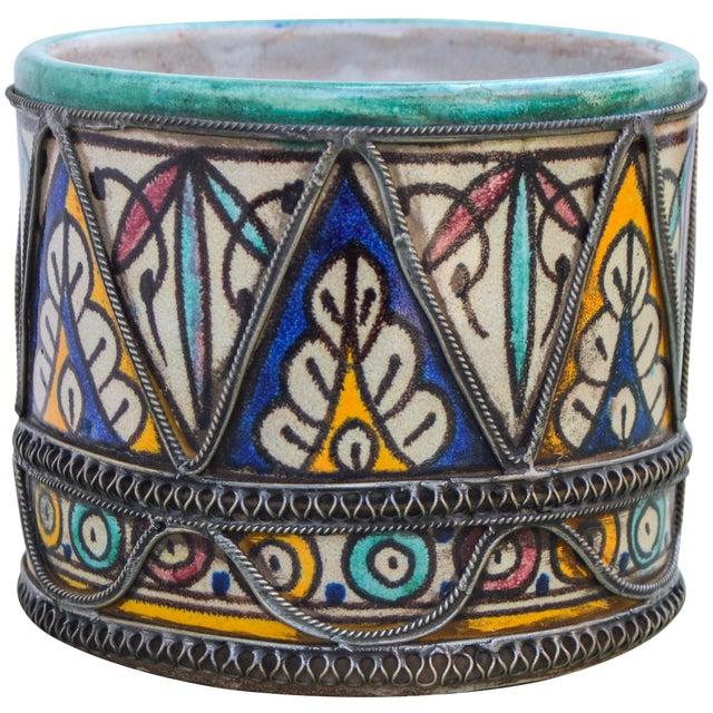 Andalusian Filigree Ceramic Box For Sale - Image 10 of 13