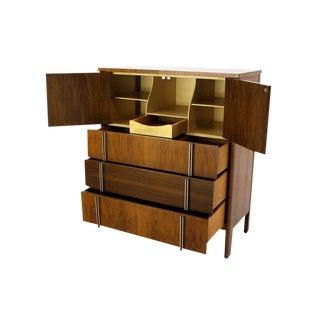 John Widdicomb Mid-Century Modern Walnut High Chest Dresser For Sale
