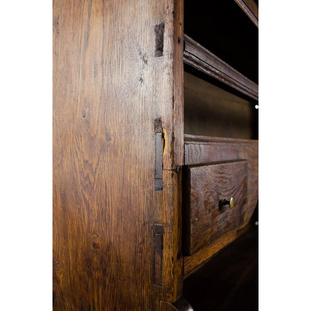 20th Century French Country Walnut Kitchen Hutch For Sale - Image 9 of 13
