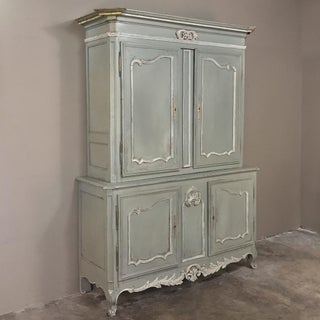 18th Century Country French Painted Provincial Buffet a Deux Corps Preview