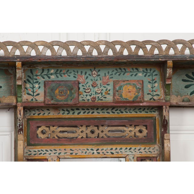 Austrian Early 19th Century Hand-Painted Pine Wall Mounted Coat Rack For Sale - Image 11 of 13