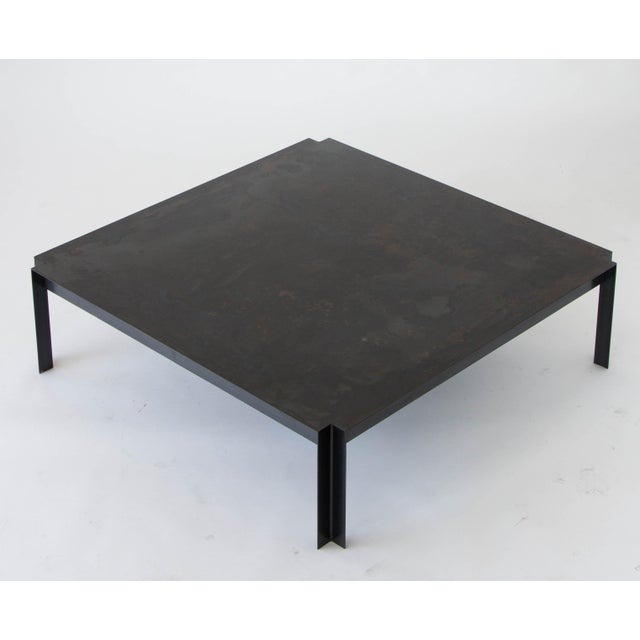 California-Designed Modernist Square Coffee Table - Image 5 of 8