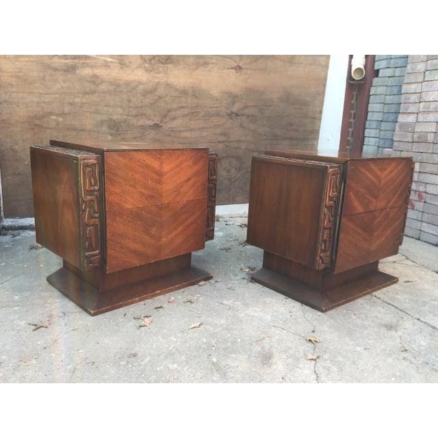 Brutalist United Furniture Brutalist Side Tables - A Pair For Sale - Image 3 of 8