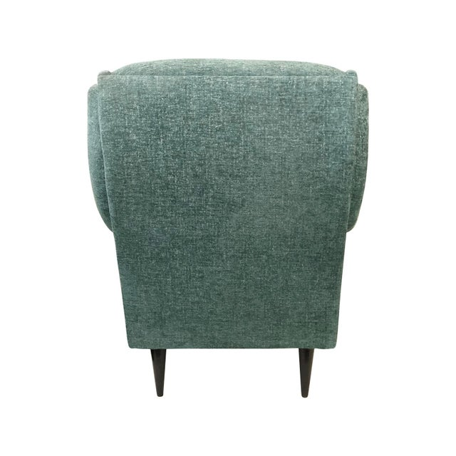 1950s Vintage Button Back Lounge Chair For Sale - Image 4 of 5