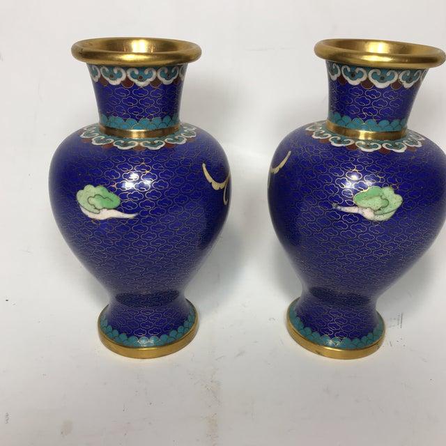 Chinese Enamel Cloisonn Vases A Pair Chairish